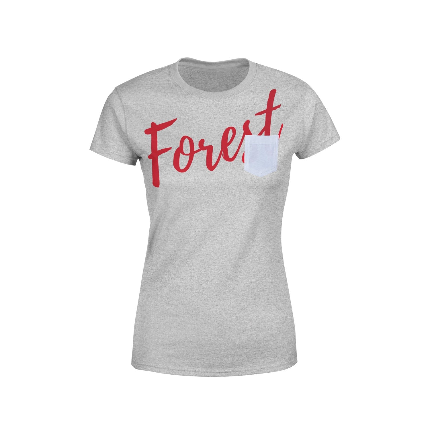 NFFC Womens Grey Pocket T-Shirt