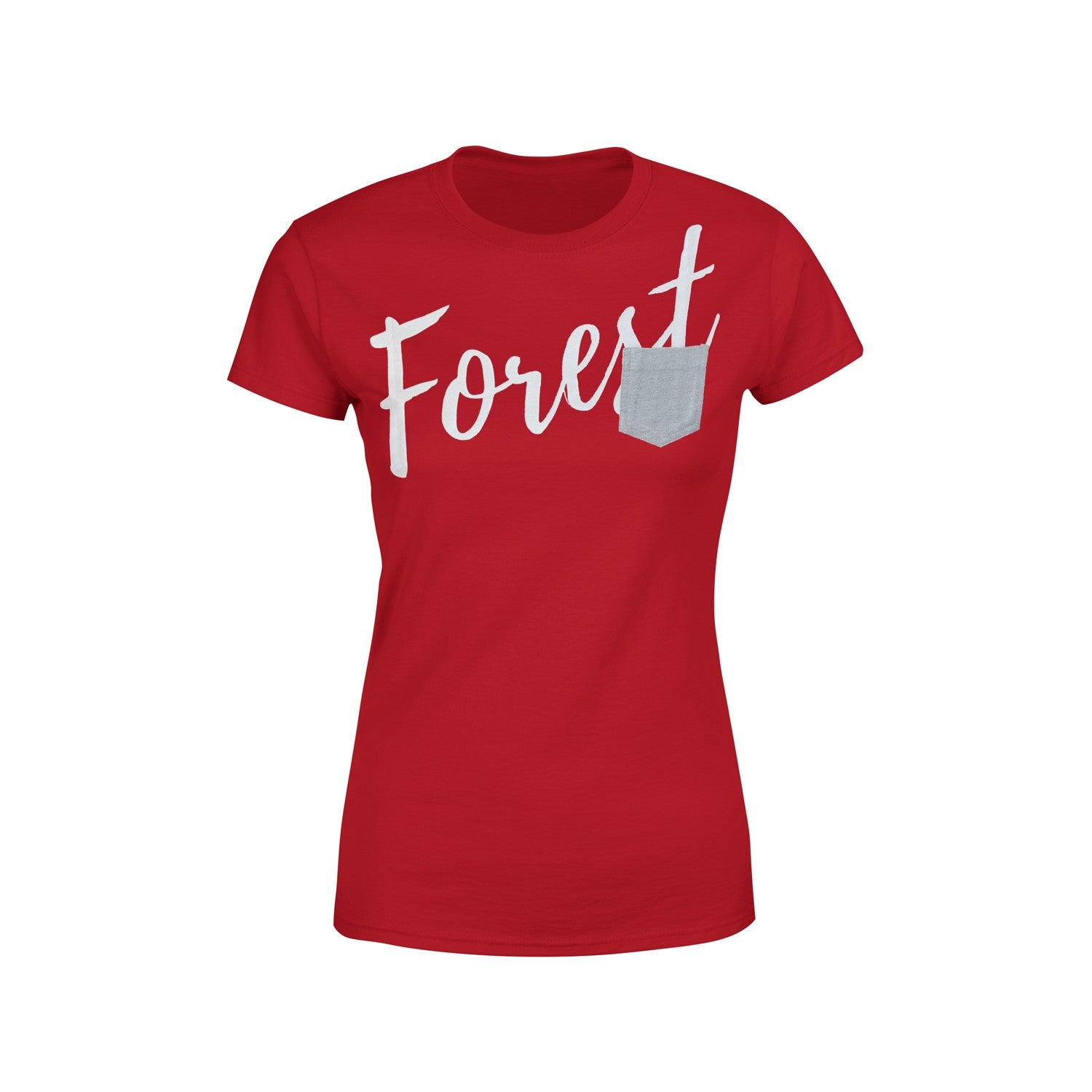 NFFC Womens Red Pocket T-Shirt