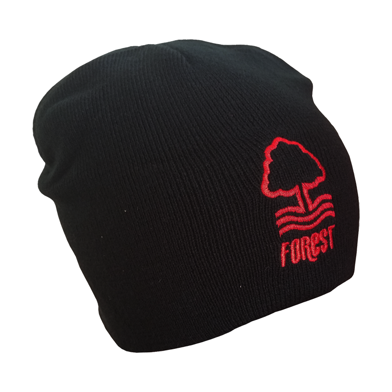 NFFC Junior Essential Black Beanie - Nottingham Forest