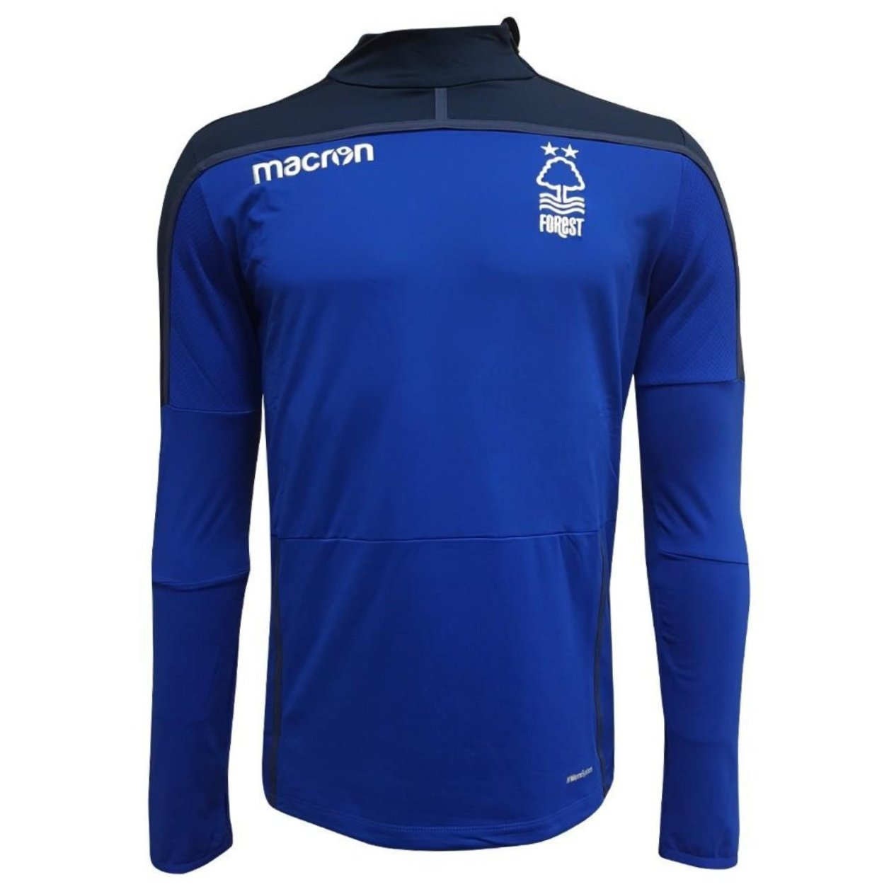 NFFC Mens Blue Diagonal Zip Top 18/19 - Nottingham Forest