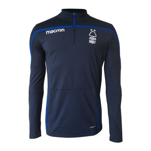 NFFC Mens Navy 1/4 Zip Top 18/19 - Nottingham Forest