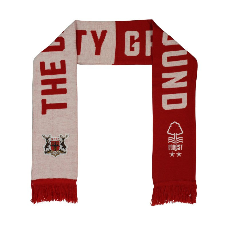 NFFC Crest and Stag Scarf - Nottingham Forest