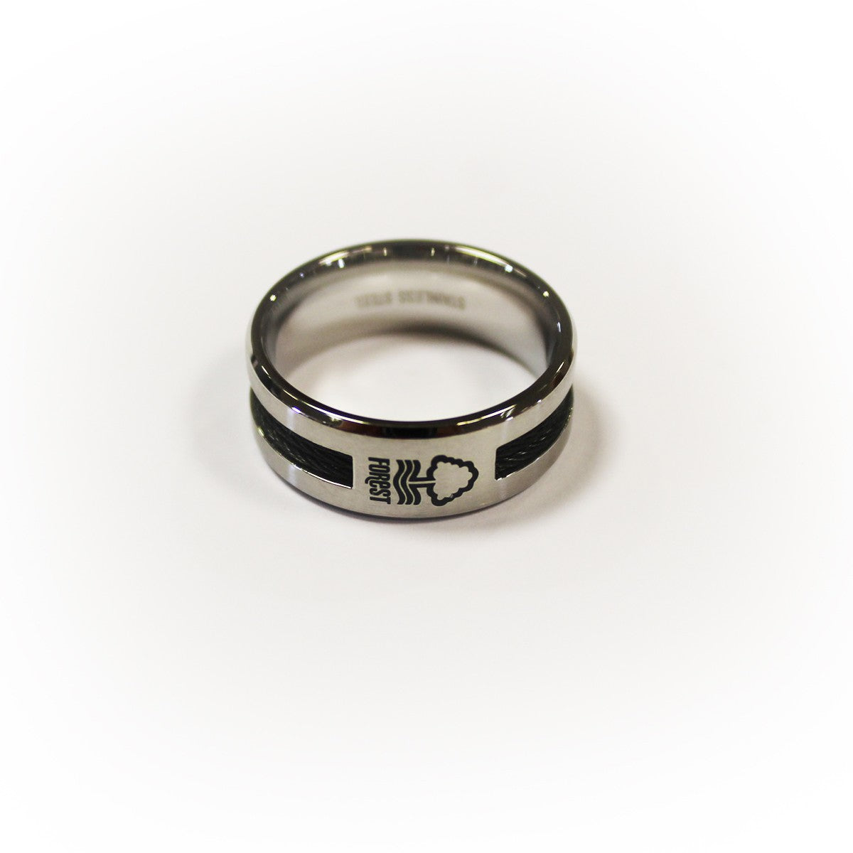 NFFC Black Inlay Crest Ring
