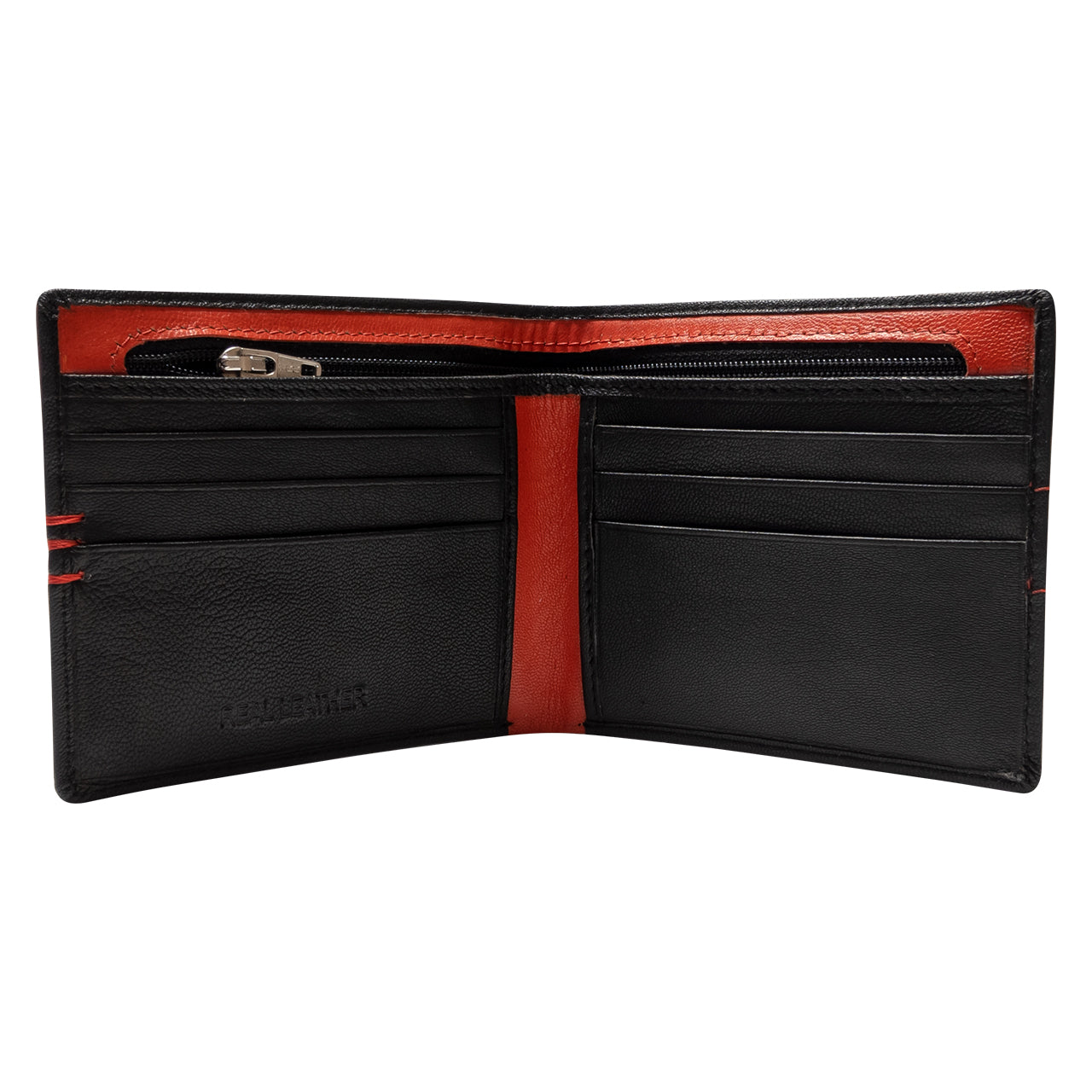 NFFC Black Stitch Leather Wallet - Nottingham Forest