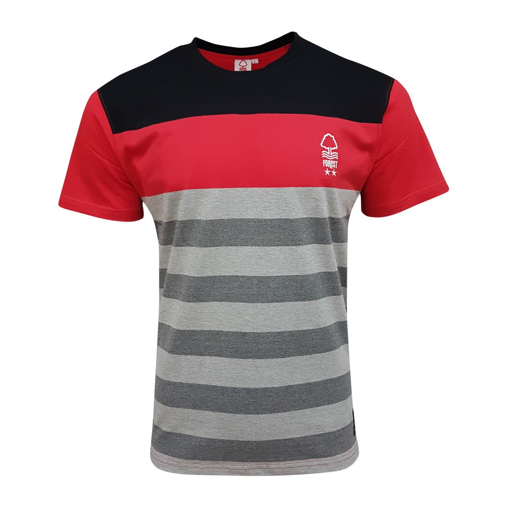 NFFC Junior Stripe T-Shirt - Nottingham Forest