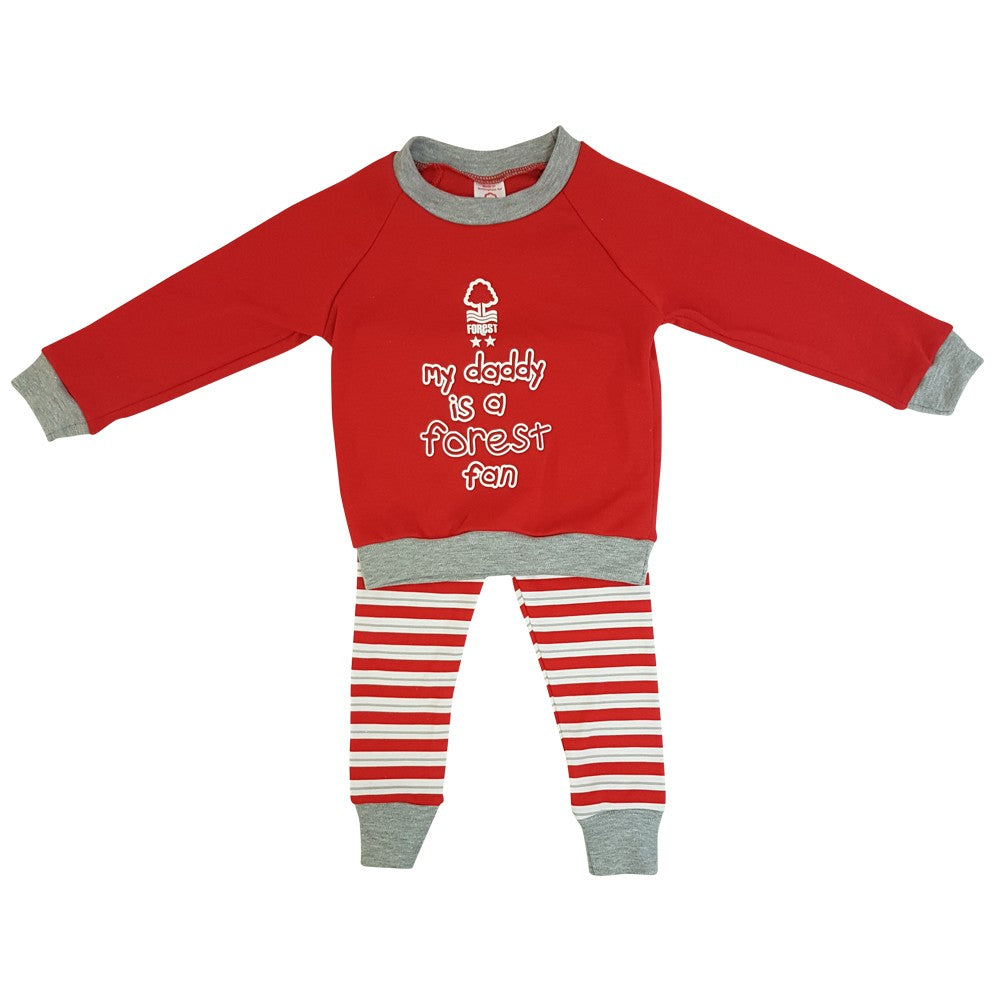 NFFC Baby Striped Jogset - Nottingham Forest