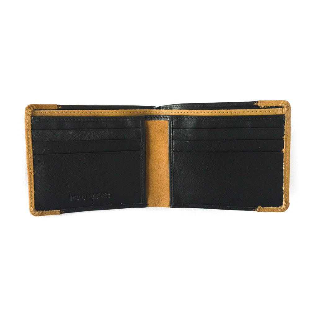 NFFC Black and Tan Leather Wallet