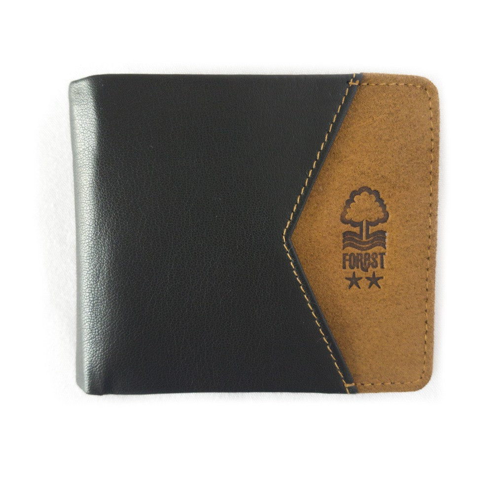 NFFC Black and Tan Leather Wallet - Nottingham Forest