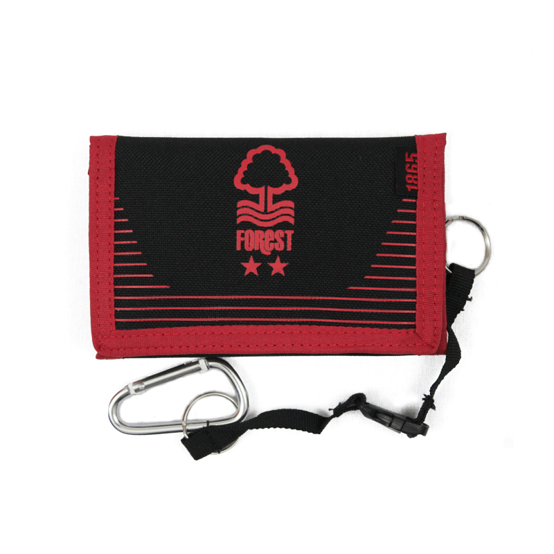 NFFC Black Pro-Tech Velcro Wallet - Nottingham Forest