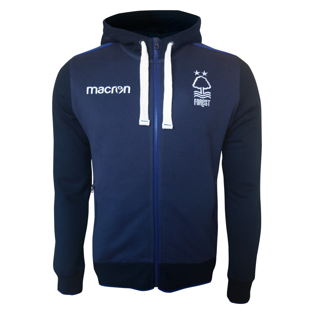 NFFC Mens Navy Full Zip hoodie 18/19 - Nottingham Forest