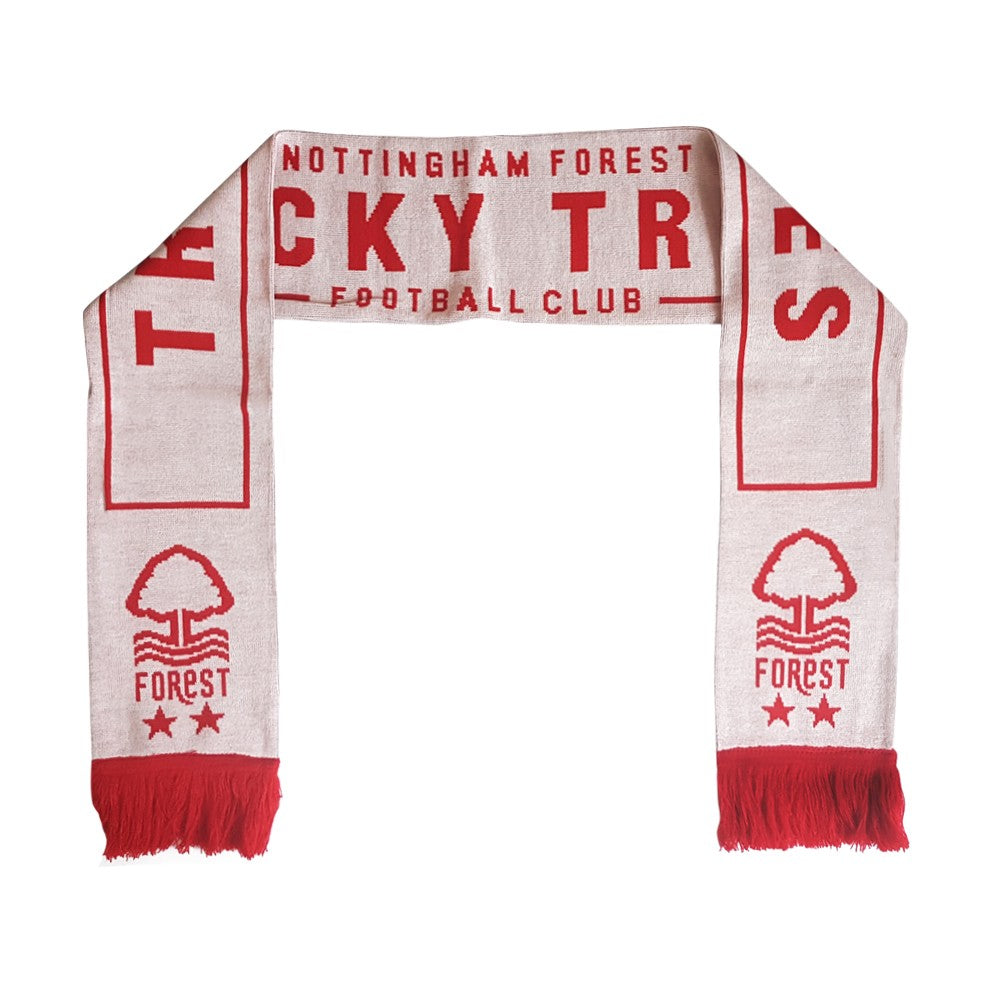 NFFC White Tricky Trees Scarf
