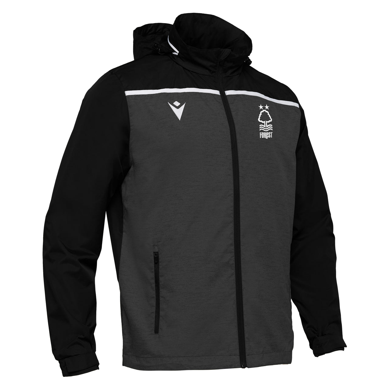 NFFC Mens Black Tully Windbreaker