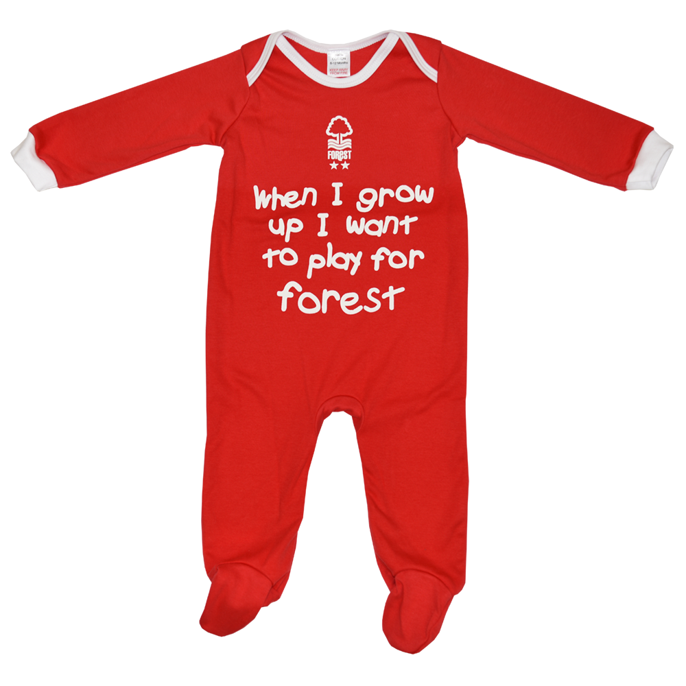 NFFC Baby Red Sleepsuit