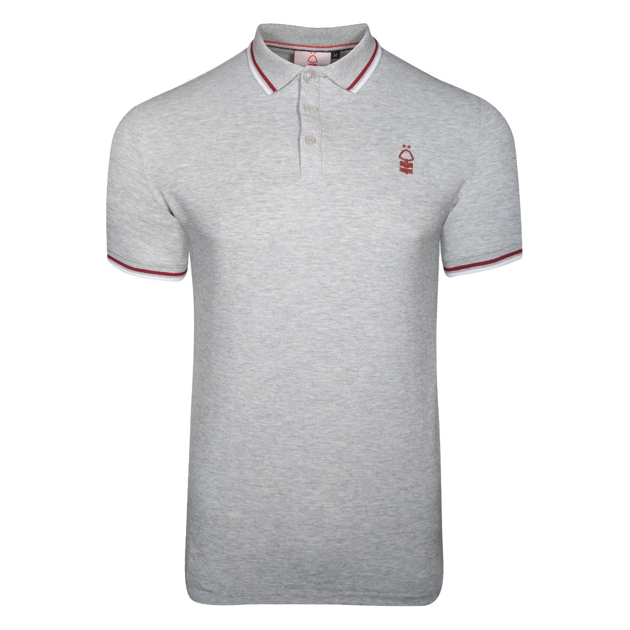 NFFC Mens Grey Raised Rubber Crest Polo