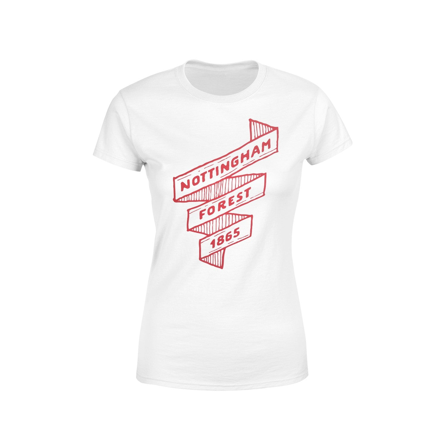 NFFC Womens White Scroll T-Shirt