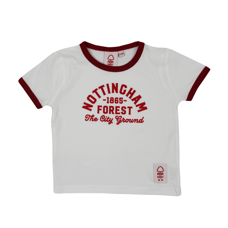NFFC Infant White City Ground T-Shirt - Nottingham Forest