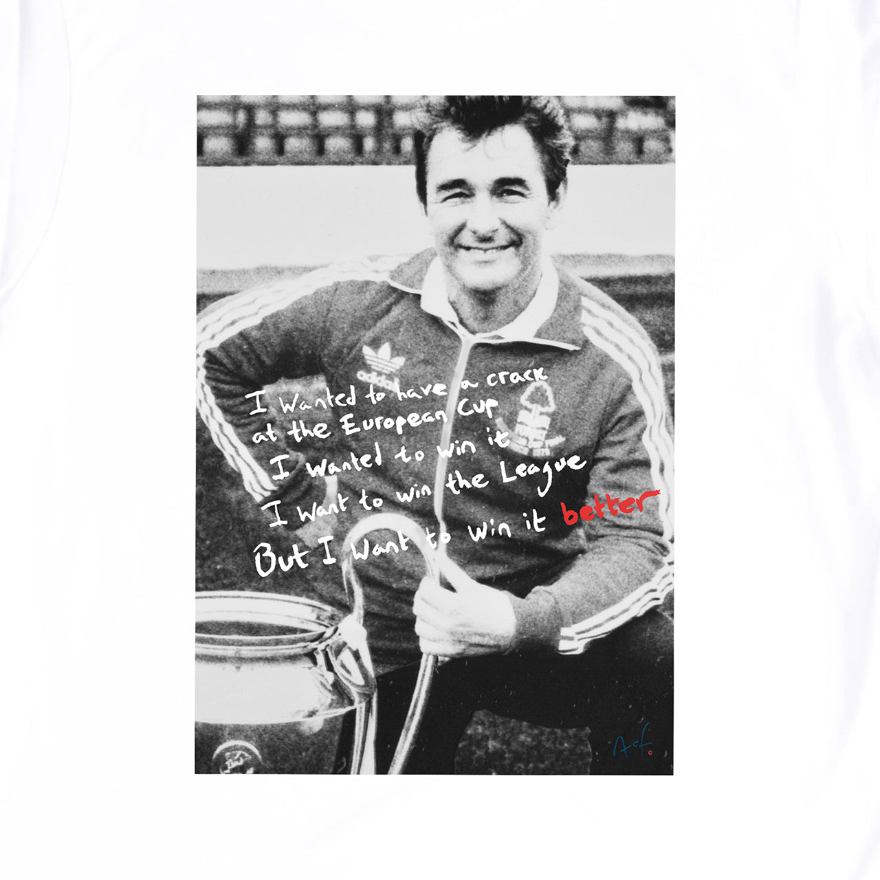 NFFC Mens White Win It Better T-Shirt