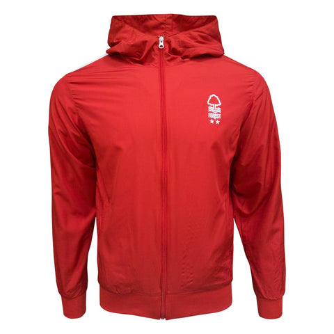 NFFC Mens Red  Wind Jacket - Nottingham Forest