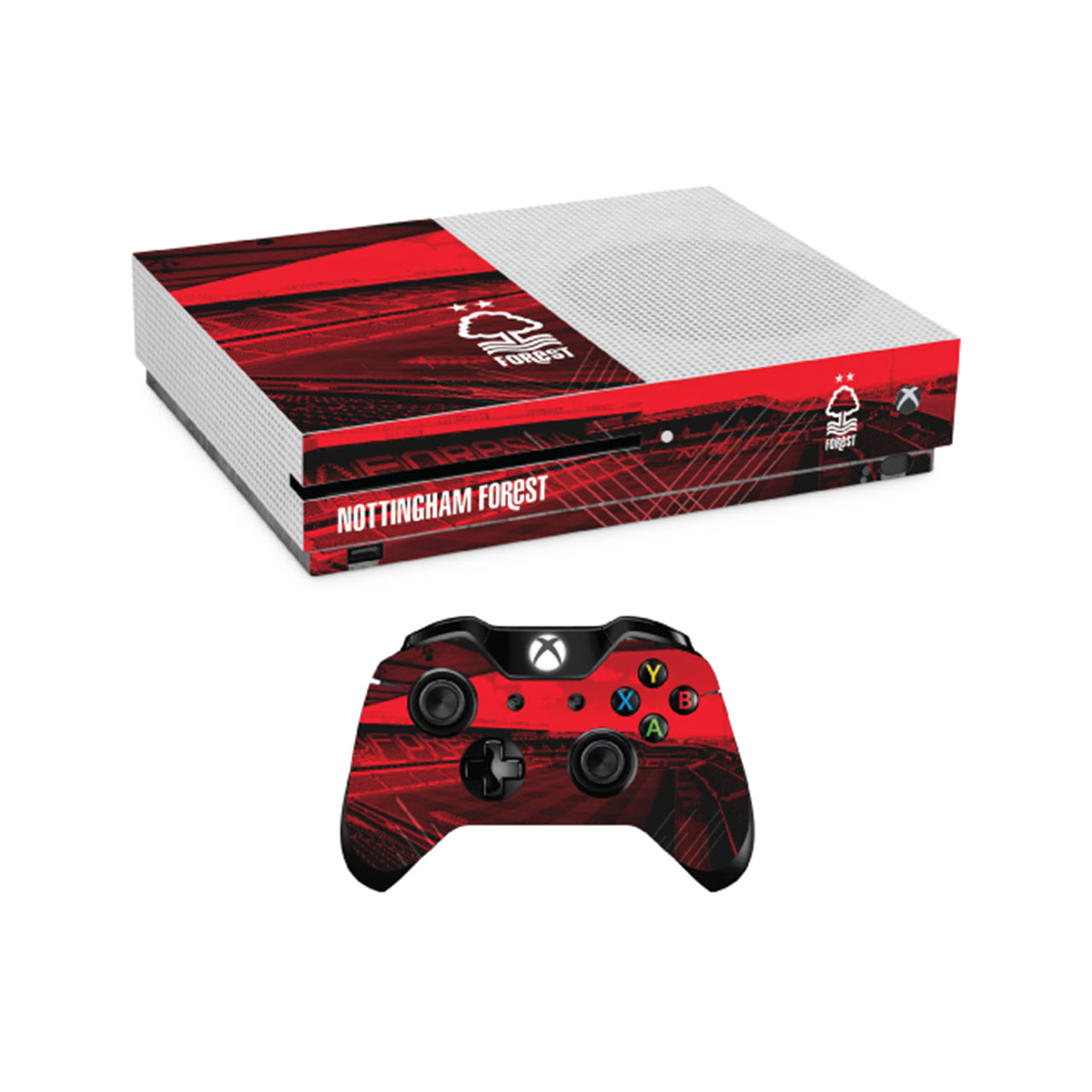 NFFC Xbox One Slim Console and Controller Skin Bundle