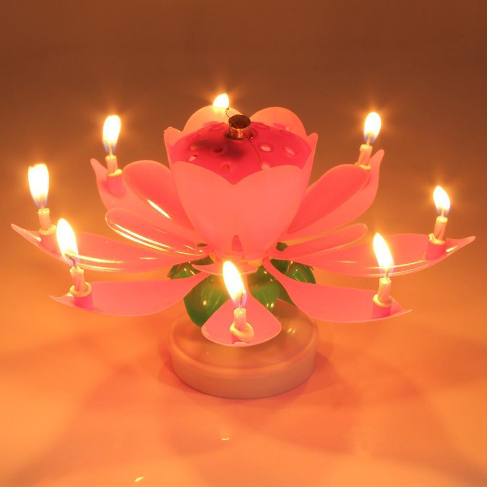 Musical candle lotus flower cool crazy co musical candle lotus flower izmirmasajfo