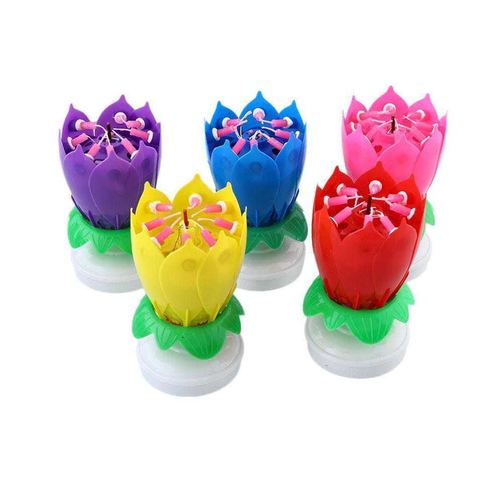 Musical Candle Lotus Flower Cool Crazy Co