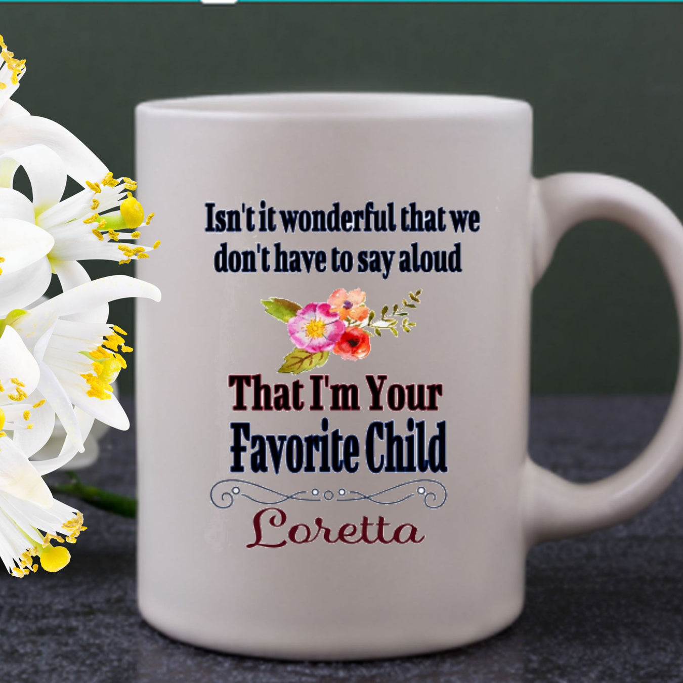 Personalized Favorite Child Coffee Mug, Humorous Mother's Day Gift