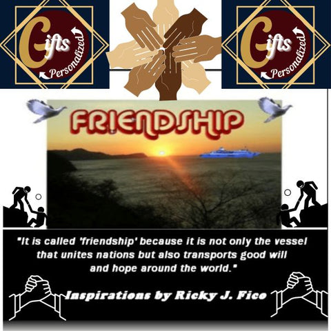 Friendship Inspiration Plaque with Logo By Ricky J. Fico