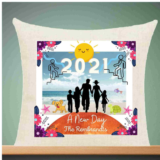 "Personalized ""A New Day"" Inspirational 2021 Decorative Throw Pillow"