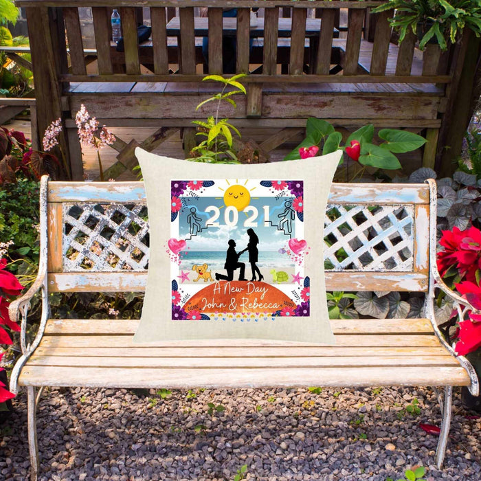 A New Day The Proposal On Garden Bench