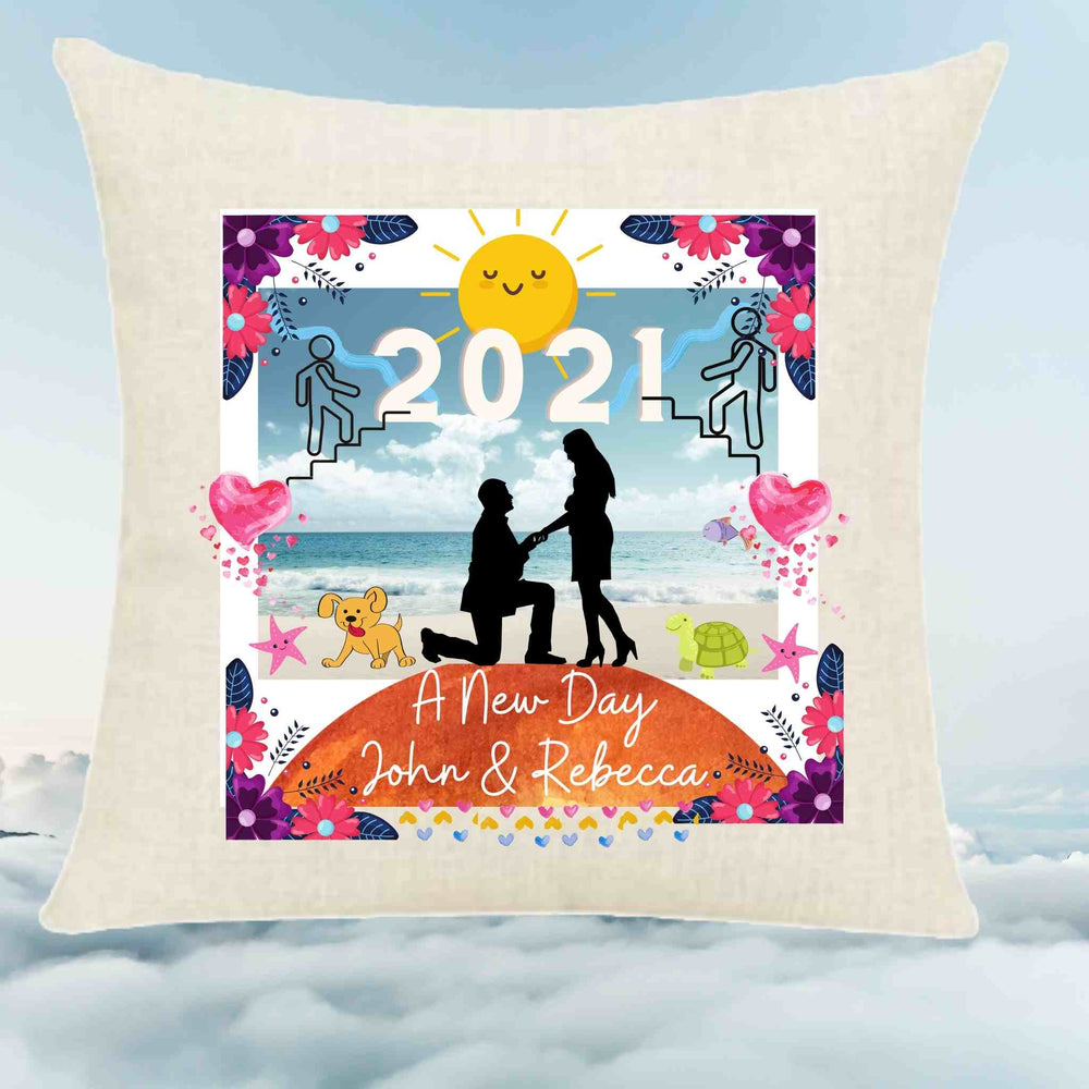 Inspirational New Year Throw Pillow -The Proposal