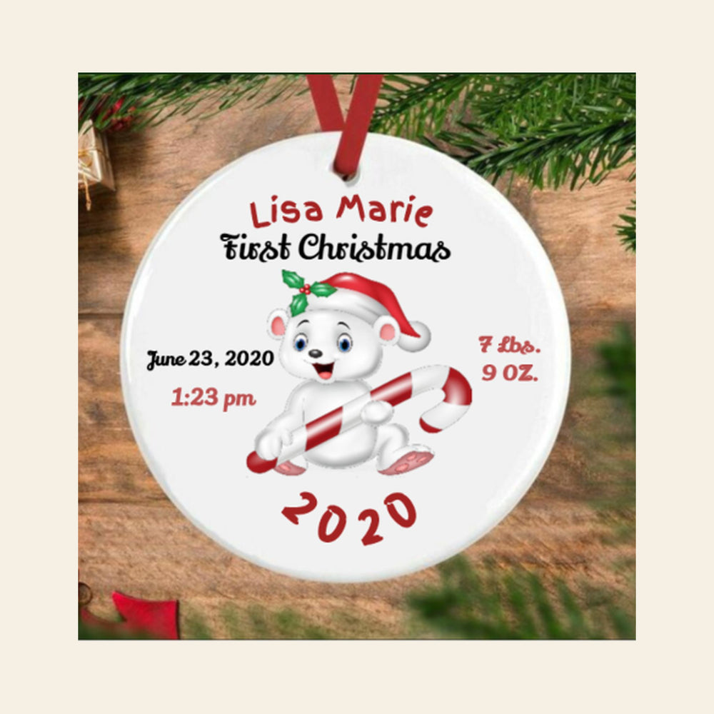 Baby's 1st Christmas Ornament Gifts Personalized