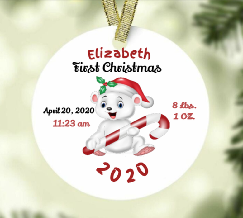 "Personalized ""Baby's 1st Christmas"" Ornament"