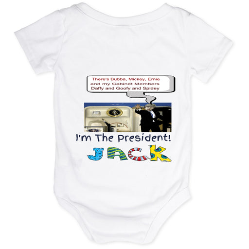 "Personalized ""Coming Off Air Force One"" Baby One-Piece"