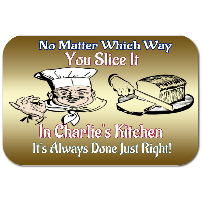 "Personalized Large ""No Matter Which Way You Slice It"" Cutting Board"