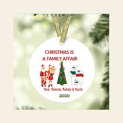 Christmas is a Family Affair Personalized Ornament