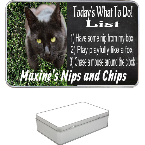 Personalized Cat Treat Storage Tin