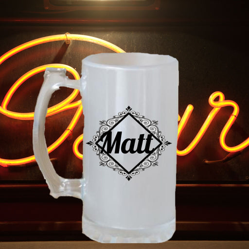 Personalized Frosted Beer Stein- perfect groomsman gift