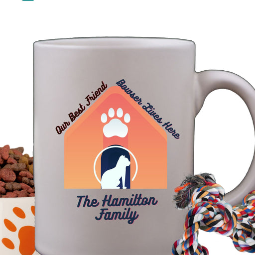 Personalized Dog House Design Coffee Mug - All White