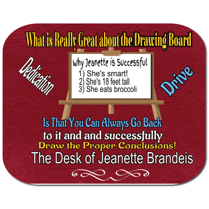 "Personalized ""Drawing Board"" Mousepad"