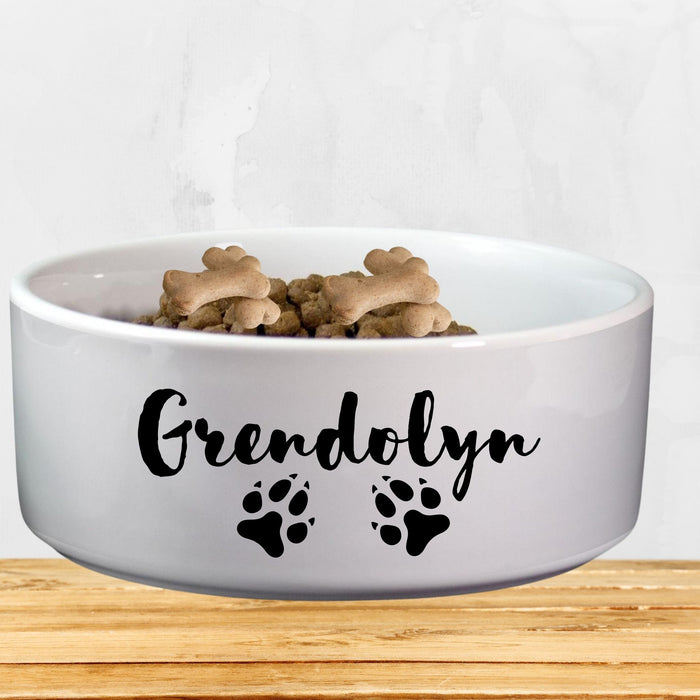 Personalized Humorous Large Dog Bowl