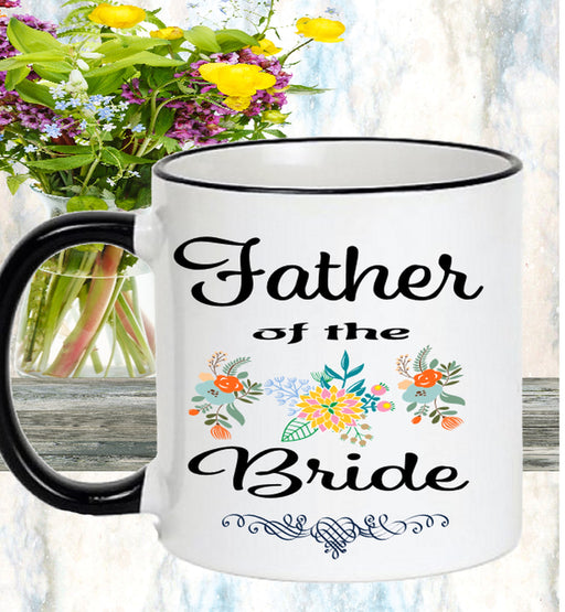"Personalized ""Father of the Bride Mug Gift"""
