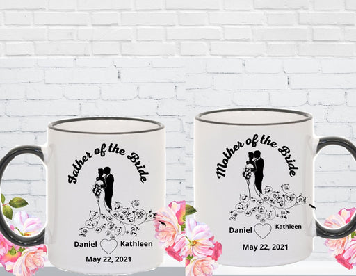 Personalized Bride's Parents 2 Mug Set, Wedding Party Gift