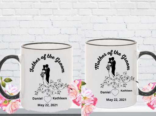 Personalized Groom's Parents 2 Mug Set, Wedding Party Gift
