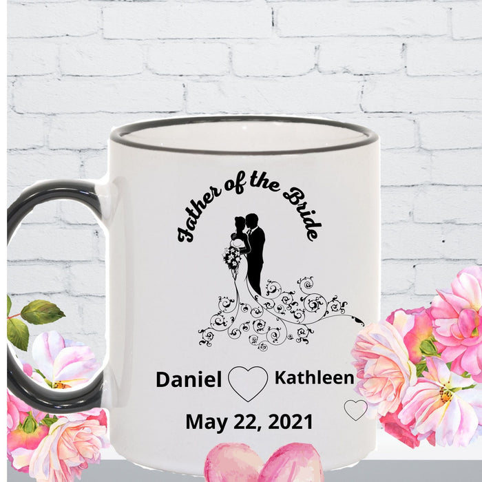 Personalized Father of the Bride mug gift