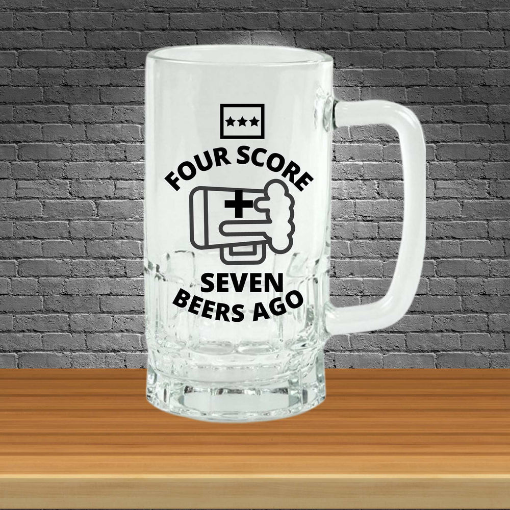 "Personalizable ""Four Score and Seven Beers Ago"" Beer Stein"