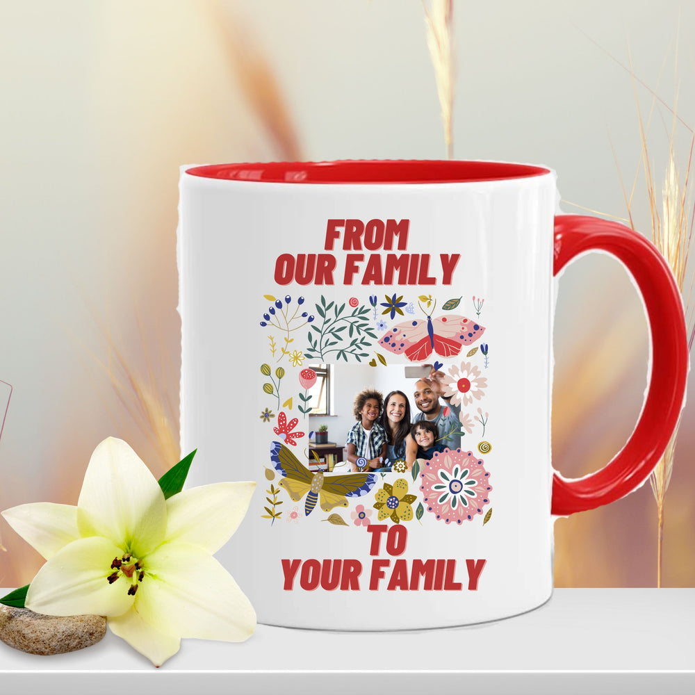 "Personalized Family Photo Christmas Mug ""From Our Family...To Yours"""