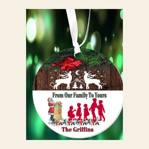 Personalized From Our Family To Yours Ornament
