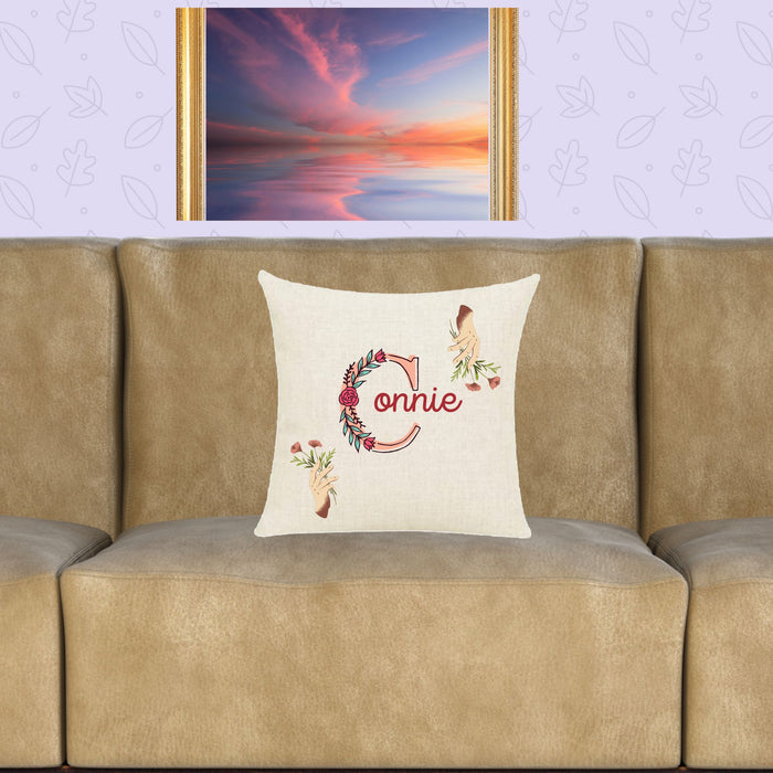 "Personalized ""Hands of Friendship"" Throw Pillow"