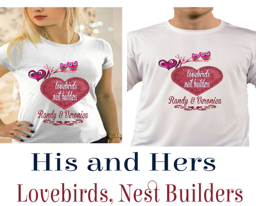 His and Hers Lovebird T-Shirt Set