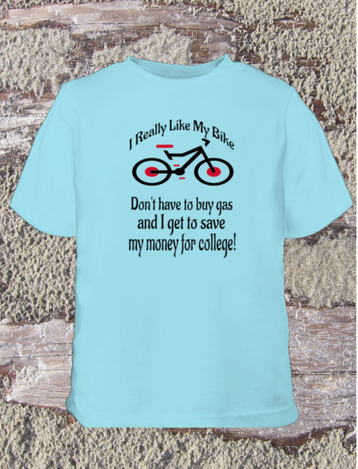 Like My Bike Youth Tee Shirt - Blue
